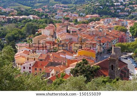 Mediterranean village of Collioure, Vermilion coast, Roussillon, Pyrenees-Orientales, France - stock photo