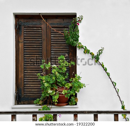 Mediterranean Window - stock photo