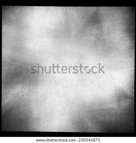 Medium format film frame with grain textured background - stock photo