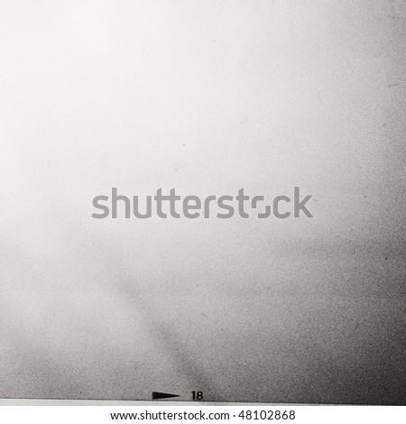 medium format filmstrip with grain - stock photo