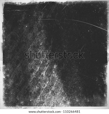 medium format filmstrip with grain textured and grunge border - stock photo