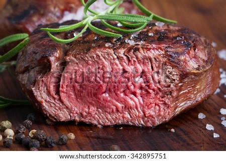medium roast steak - stock photo