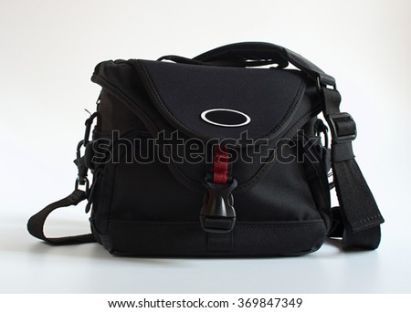 Medium size black modern practical photo-bag