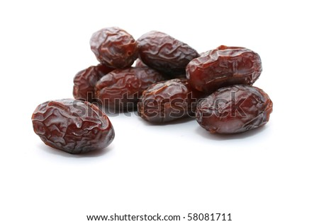 Medjool dates Isolated with white background