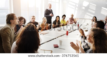 Meeting Discussion Talking Sharing Ideas Concept - stock photo