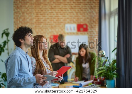 Meeting In Architects/designers Office - stock photo