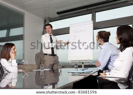 Meeting in conference room - stock photo