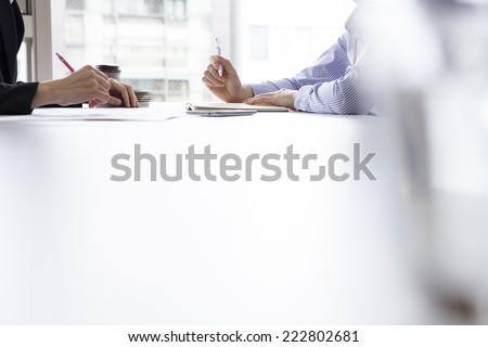Meeting in the office - stock photo