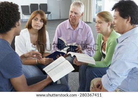 Meeting Of Bible Study Group - stock photo