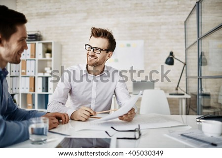Meeting of businessmen - stock photo