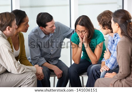 Meeting Of Support Group - stock photo