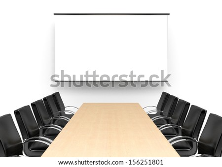 Meeting room. Concept illustration. 3d visualization. - stock photo