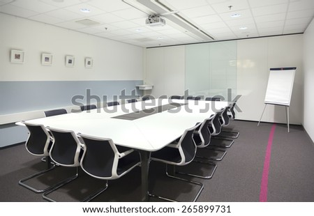 meeting room in new office  - stock photo