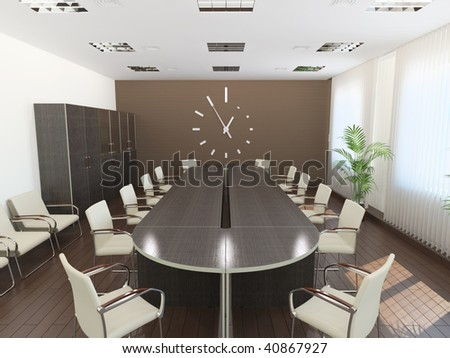 Meeting room. It's 3D image.