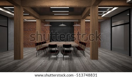 Meeting room loft style and simple