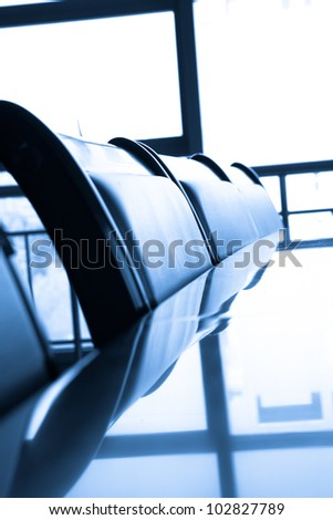 Meeting room ,reflection table - stock photo