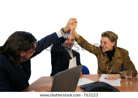 Meeting success isolated - stock photo
