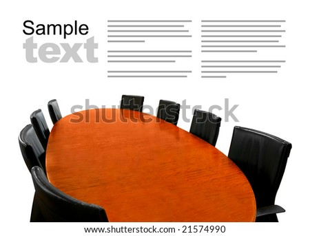 Meeting table isolated - stock photo