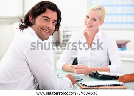 Meeting with a finance advisor - stock photo