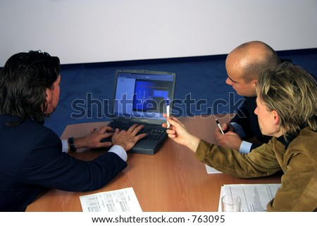 Meeting with a laptop