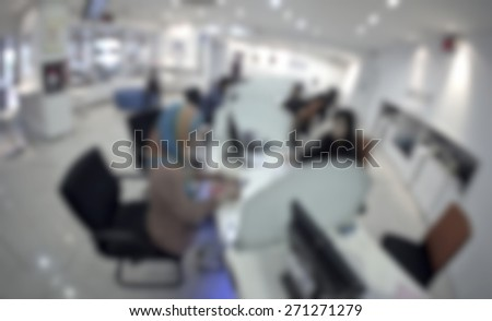 Meeting with business customer in defocused blur concept with vintage color style and effects. - stock photo