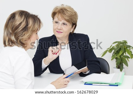 Meeting with financial agent. - stock photo