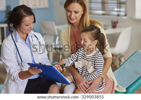 Meeting with the doctor office - stock photo
