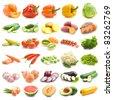 mega set of 30 different vegetables - stock photo