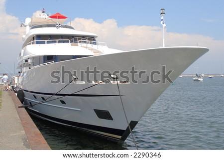 Mega Yacht - stock photo