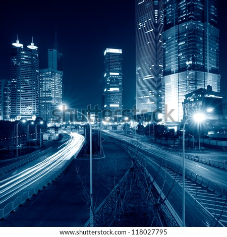 Megacity Highway in China - stock photo