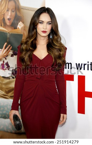 """Megan Fox at the Los Angeles premiere of """"This Is 40"""" held at the Grauman's Chinese Theatre in Los Angeles, United States, 121212.  - stock photo"""