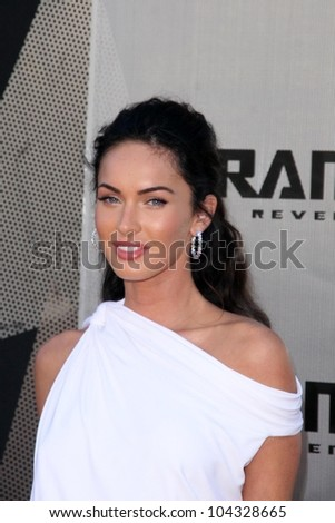 Megan Fox at the Los Angeles Premiere of 'Transformers Revenge of the Fallen'. Mann Village Theatre, Westwood, CA. 06-22-09 - stock photo