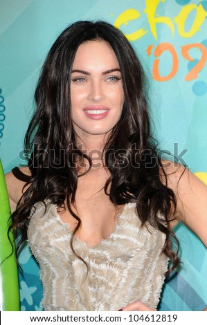 Megan Fox  in the press room at Teen Choice Awards 2009. Gibson Amphitheatre, Universal City, CA. 08-09-09 - stock photo