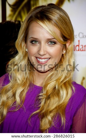 Megan Park at the Los Angeles premiere of 'The Descendants' held at the AMPAS Samuel Goldwyn Theater in Beverly Hills on November 15, 2011.