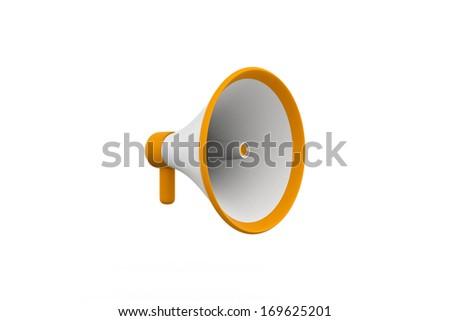 Megaphone. 3d image. Isolated white background. - stock photo