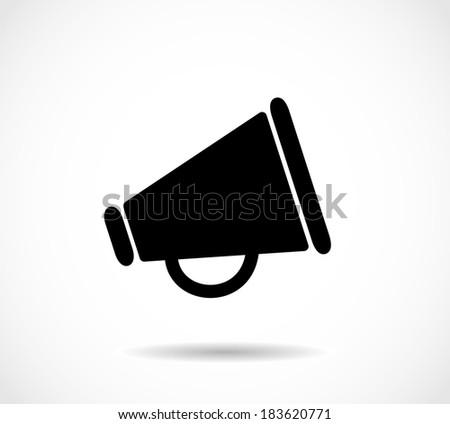 Megaphone icon - stock photo