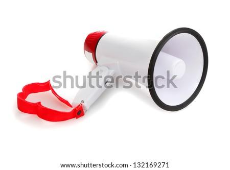 Megaphone isolated on white background - stock photo