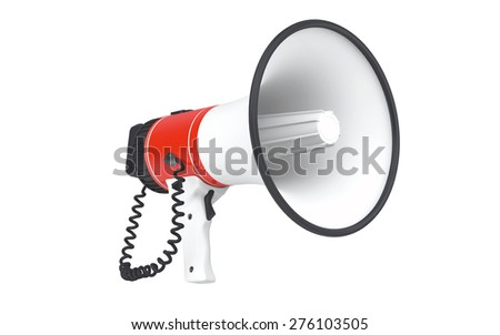 Megaphone isolated on white background with clipping path - stock photo