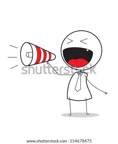 megaphone promotion  - stock photo