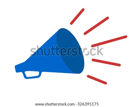 Megaphone vector cartoon - stock photo