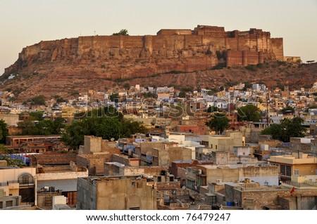 Mehrangarh Fort, Jodhpur - stock photo