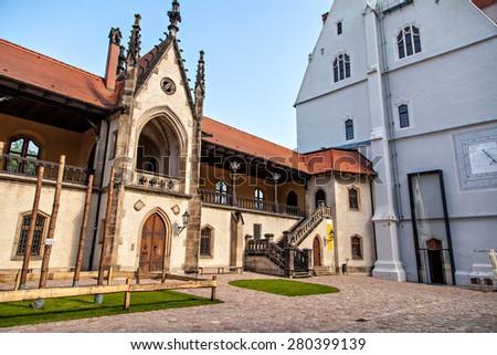 Meissen Albrechtsburg Castle is regarded to be Germany's oldest castle - stock photo