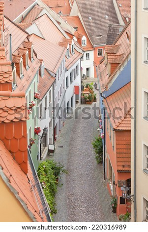 Meissen - Germany - Old alley - stock photo