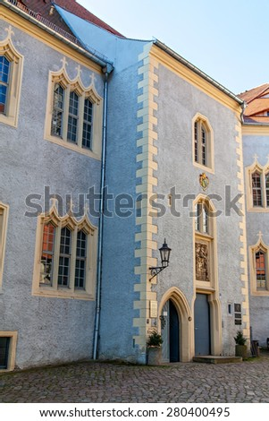 Meissen, the famous castle Albrechtsburg in Germany - stock photo