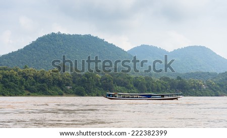 Mekong river in Asia - stock photo