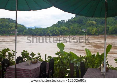 Mekong river in Luang Prabang, northern Laos - stock photo