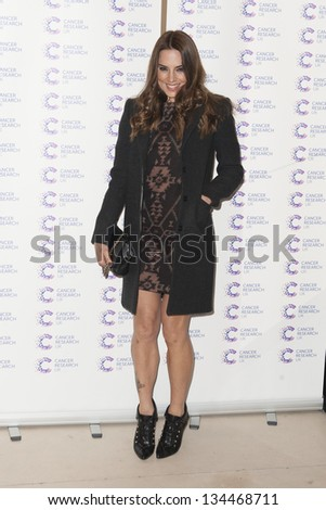 Mel C arriving at the James' Jog fundraising event for Cancer Relief, Kensington, London. 03/04/2013 Picture by: Simon Burchell