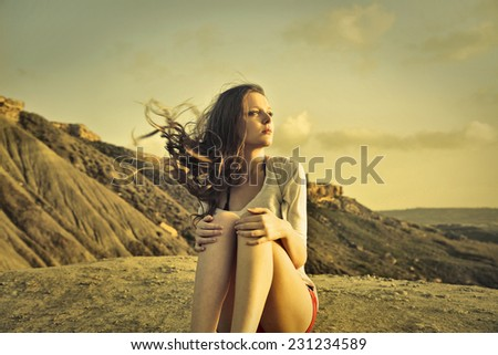 melancholy  - stock photo