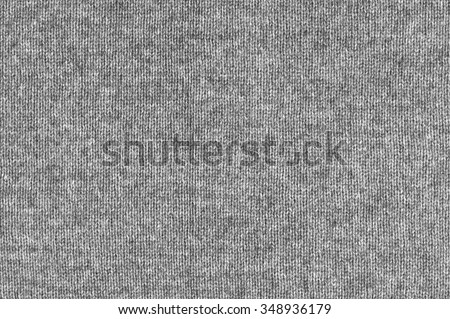 Melange gray woolen knitted fabric as background. - stock photo
