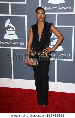 Melanie Fiona at the 55th Annual GRAMMY Awards, Staples Center, Los Angeles, CA 02-10-13